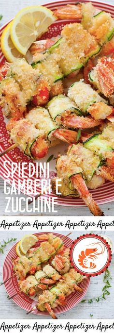 Spiedini di gamberi e zucchine Fish Recipes, Seafood Recipes, Pasta Recipes, Cooking Recipes, Seafood Appetizers, Appetizers For Party, Appetizer Recipes, Antipasto, Easy Healthy Recipes