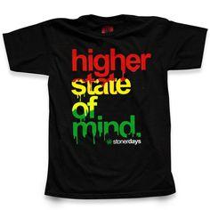 higher state of mind   Shop Stoner Days   MEN'S RASTA HIGHER STATE OF MIND TEE