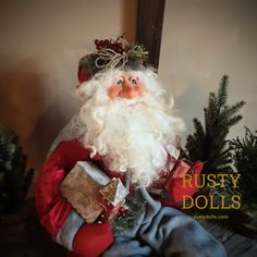 Scandinavian Santa Henrik Santa Doll, Hand Shapes, Father Christmas, North Africa, Shades Of Red, House Painting, Beautiful Hands, Art Dolls, Scandinavian