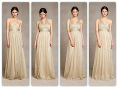 If you love glitz and glam, then you will be head over heels forthe latest trend in bridesmaid dresses! Metallics arehaving a moment rightnow, and we are ecstatic that Jenny Yoo has embraced the lustrouscolors! From sparkling gold tulle to shimmering silver charmeuse, these dresses are ...