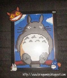 Totoro portrait hama beads by Kira Sarenne - Kiragumies
