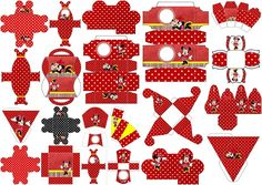 Minnie in Red and Polka Dots: Free Printable Boxes.