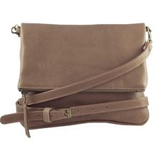 Jinger Jack New York Khaki Slingbag This fold-over bag is the ultimate MUST HAVE sling bag, with the cool metal zip your bag gets a great cool look. Combine this bag with every single outfit. Wear it as a cross-body with the long strap.  Cleaning Instructions: Clean leather with a clean damp cloth. Do not rinse the leather with water. Treat with a leather conditioner. R995 Leather Conditioner, You Bag, Cross Body, Clutches, Totes, How To Look Better, New York, Cleaning, Zip
