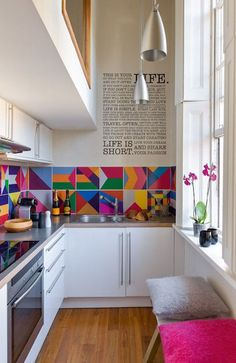 Inspiring and Colourful Kitchens, Image Source admagazine.ru