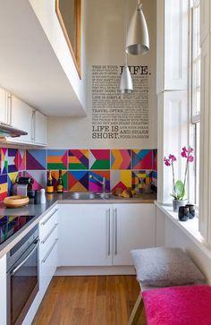 Inspiring and Colourful Kitchens, Image Source admagazine.ru