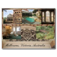 Historic house and gardens Melbourne Postcard