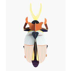 Studio Roof 3D Model Wall Decor - Rhinoceros Beetle