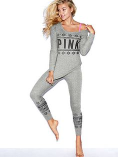 Browse our wide variety of colors and PINK apparel styles. Only at PINK. Holiday Leggings, Thermal Leggings, Boyfriend Sweater, Cute Pajamas, Pink Leggings, Victoria Secret Pink, Cute Outfits, Fashion Outfits, My Style