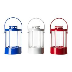 SOLMYS Lantern for candle in metal cup IKEA Can be used with small tealights and a large candle in a metal cup.