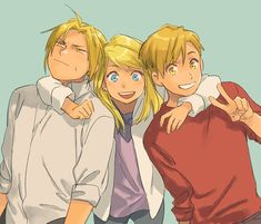 Winry and her boys, Edward and Alphonse Elric – Fullmetal Alchemist Fullmetal Alchemist Brotherhood, Fullmetal Alchemist Mustang, Fullmetal Alchemist Alphonse, Alphonse Elric, Full Metal Alchemist, Der Alchemist, Manga Anime, Fanarts Anime, Anime Characters