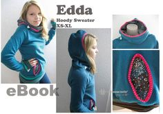 Tutoriels Mode - Edda ♡ eBook Hoodie motif Sweat col de pull - un morceau de concepteur de la première lounge berlin sur DaWanda