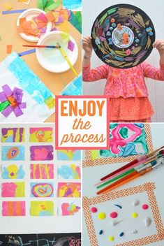 Fabulous ideas for easy process art projects for kids. #processart #artforkids #paint
