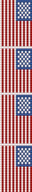 american flag loom bracelet   Flickr - Photo Sharing!