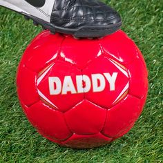 Choose the colour of the football and the personalisation for the front of the ball | Personalised Football - Dad | GettingPersonal.co.uk