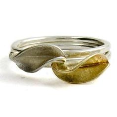 Leaf Stacking Rings by Collette Waudby