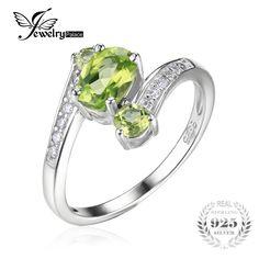 Jewelrypalace 3 stones natural peridot anello della pietra preziosa solido argento 925 donne hot fabulous vintage charm fine jewelry