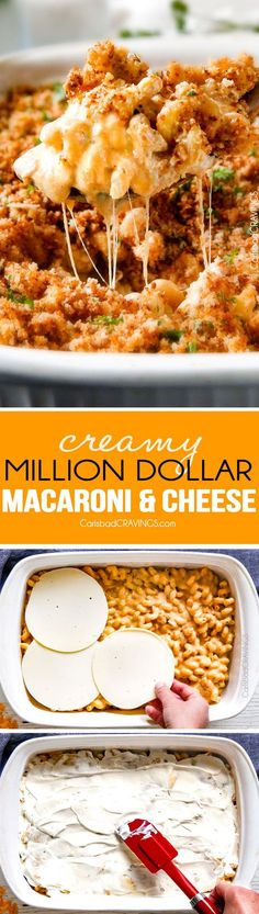 This mega creamy Million Dollar Macaroni and Cheese Casserole is the only macaroni cheese recipe I will ever make from now on! The creamy homemade sauce is amazing and the casserole is stuffed with a layer of provolone cheese and sour cream that melts when baked for a ridiculous amount of velvety creamy, cheesiness!