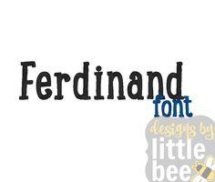Ferdinand Font – 1″ 2″ 3″ – 11 10 2017