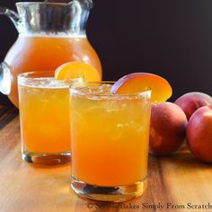 Peach Whiskey Iced Tea is the perfect summer time cocktail at the end of a hot summer's day!