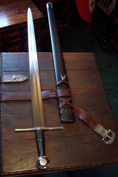 Thirteenth century sword and scabbard unsheathed | Flickr - Photo Sharing!
