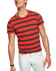 The 8 Summer T-Shirts All Men Should Own - Summer Fashion for Men: Wear It Now: GQ Old School Stripes-Levi's Vintage Clothing Americana Vintage, Nautical Fashion, Nautical Style, Looks Style, Real Style, Young Fashion, Summer Tshirts, Vintage Outfits, Vintage Clothing