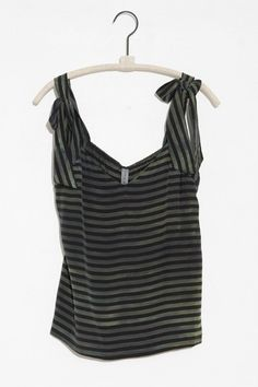 OLIVE TIE SHOULDER TANK From ShopHeist.com!