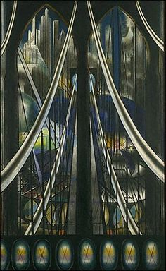The Voice of the City of New York Interpreted:The Bridge, 1922 by Joseph Stella (1880-1946)