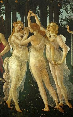 Sandro Botticelli ~ Primavera (detail, The Three Graces), 1477