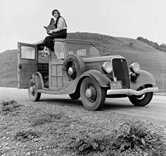 Dorothea Lange, while Photographing Dust Bowl Migrant Farmers   1936
