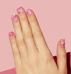 Easy Nail Art Designs-FREESTYLE Can't decide between hot pink or baby pink? Better yet, blend them all together for a super cool swirl effect. Visit redbookmag.com for more nail trends.