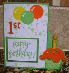 Image Detail for - ... http ink spirations blogspot com 2010 04 1st birthday cricut card html