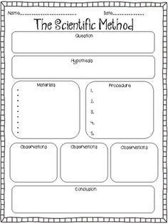 This would be perfect! Scientific Method graphic organizer  -  writing curriculum idea for a mad scientist.