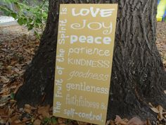 Fruit of the Spirit Handpainted Wooden Sign by PurePaintedSigns, $65.00