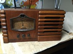 1937 Silvertone Am SW 2 Band Wood Vacuum Tube Radio   eBay