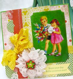 darling vintage card