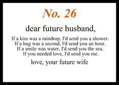 No 26 Dear Future Husband
