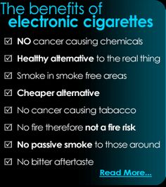 Benefits of e Cigarettes. I've been vaping on and off for years but I love this much better than the analog.