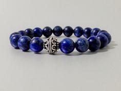Pulsera de Lapislázuli,Plata,piedras semipreciosas,pulseras de plata,joyas de lapislázuli,joyas de piedra,regalo para hombre,regalos de DeMaiCreaciones en Etsy