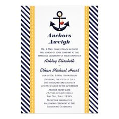 This DealsYellow Navy Anchor Nautical Wedding Invitationsyou will get best price offer lowest prices or diccount coupone