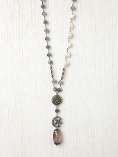 Love Heals Floral Moon Rosary at Free People Clothing Boutique