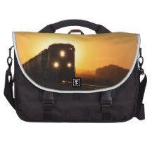 Sunset Train Laptop Bags