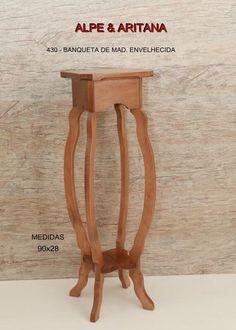 Não basta apenas uma mesa trabalhada, você também precisa de nossa banqueta (coluna).  Acesse nosso site: www.alpearitana.com.br ou fale conosco: marketing@alpearitana.com.br