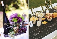 Chalkboard table top--great ideas on the Celebration Home Blog!