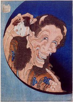 Katsushika Hokusai, Laughing Demon, 1831, Ukiyo-e