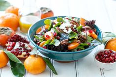 Winter Salad with Citrus Vinaigrette is full of winter fruits. What a great salad for the season.