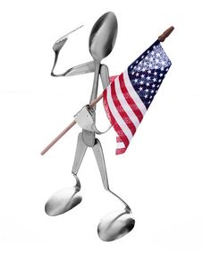 Take a look at this Spoon Patriot Sculpture by Forked Up Art on #zulily today!