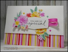 All Things Fabulous, Hand Stamped Cards, Stampin Up Catalog, Card Making Tutorials, Craft Club, Stamping Up Cards, Flower Cards, Creative Cards, Birthday Cards