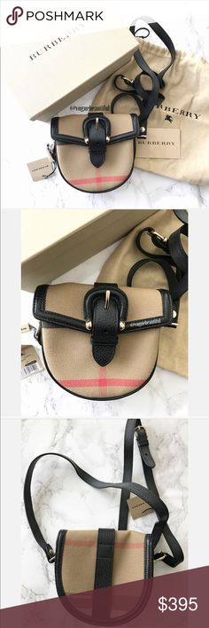 NWT Burberry Signature Check Georgie Small Bag 100% authentic Burberry Signature Check Georgie Small Swing Bag - comes with box, tags, authentication card, and dustbag - fabric with leather trim - made it italy - DIMENSIONS: 5 inches across x 5 inches in height - this bag is tiny and super cute - adjustable cross body strap - !!ABSOLUTELY NO TRADES!! Burberry Bags Crossbody Bags