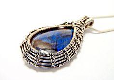 wire wrapped jewelry labradorite pendant silver pendant