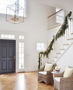 Two Story Foyer Light Height.Two Story Foyer With Rustic Large Chandelier Two Story . Lighting For 2 Story Foyer. Home and Family Luxury Interior Design, Modern Interior, Entryway Lighting, Entryway Ideas, Entryway Stairs, Foyer Chandelier, Chandelier Ideas, Two Story Foyer, Foyer Decorating